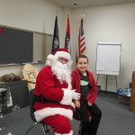 Braden couldn't believe Santa came to see him!