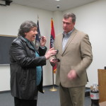Mayor Trisollini was absolutely wowed when Chief Woody presented her with a badge!