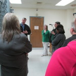 Chief Woody shows the holding cell and explains procedures